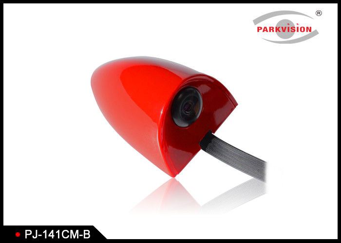 DC 12V Universal Side Car Parking Side View Camera Wide Angle 3G1P Lens Red Color